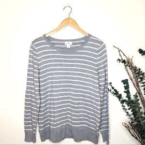 Old Navy | Gray White Sparkle Striped Sweater